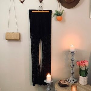 Black lace bell bottoms